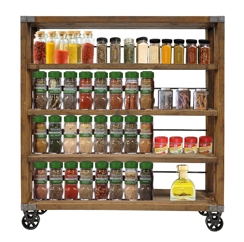 Sliding Spice Rack: Storage Enhancers That Will Blend In With The Furniture